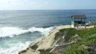 Video of cliff in San Diego, California in 4K video