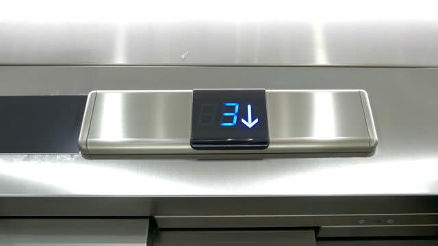 Video of countdown elevator in 4K video