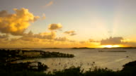 video of Cruz Bay, St.John, USVI during sunset video