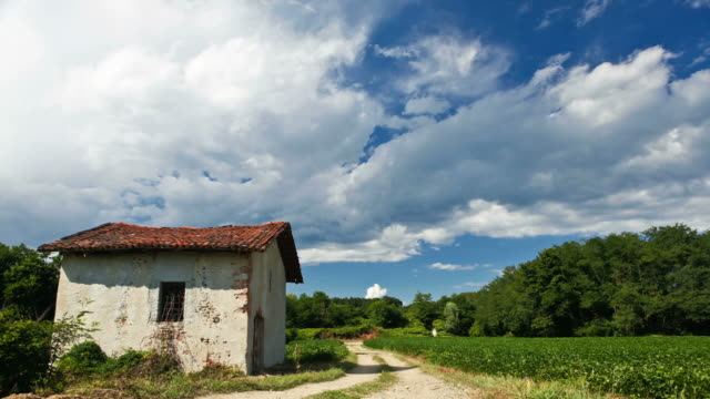 HD video of day rural landscape timelapse with clouds video