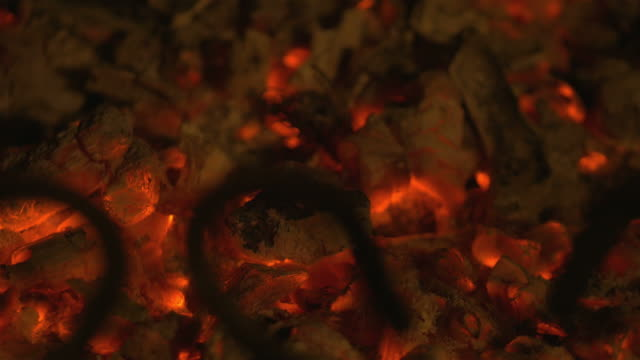Video of embers in 4K video