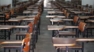video of empty test exam room. Abstract education and competition video