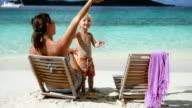 video of family at Salomon Bay Beach, St.John, USVI video