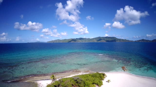 video of flyover Sandy Spit, British Virgin Islands video