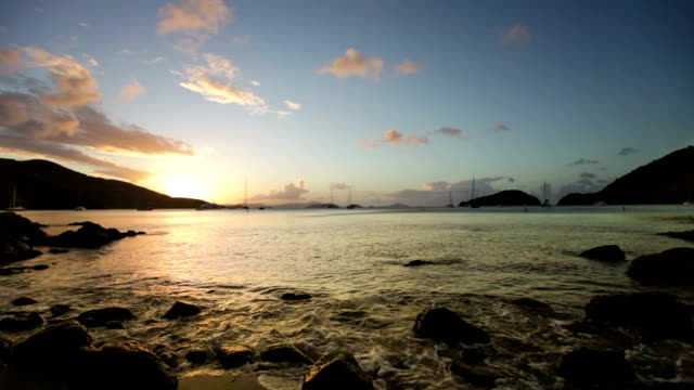 video of Francis Bay Beach, St.John, USVI during sunset video