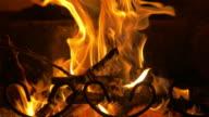 Video of glowing fire in 4K video