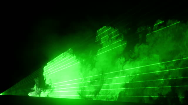 Video of green laser show in 4K video