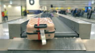 Video of luggage carousel in 4K video