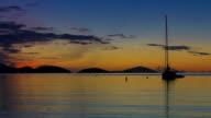 video of Maho Bay, St.John, USVI during sunset video
