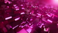 Video of moving pink cubes - loopable background in 4K video