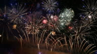 Video of new year fireworks in 4K video