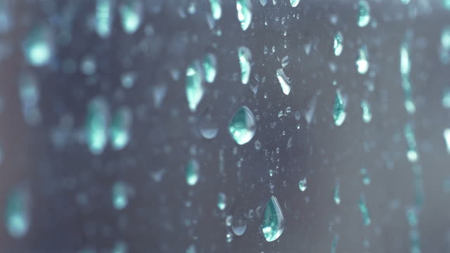 Video of rain drops in 4K video