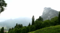 Video of rainy weather in the Bavarian Alps video