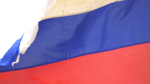 Video of Russian Federation flag in 4K video