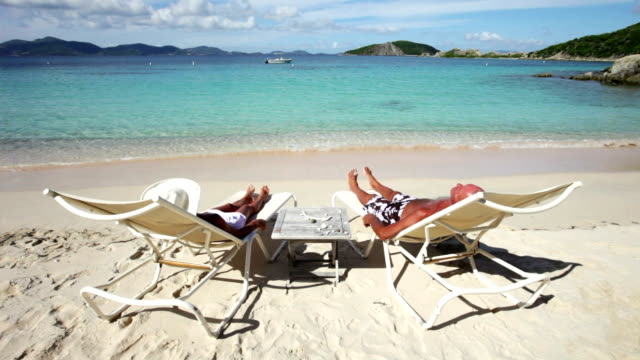 video of seniors sitting in recliners at Peter Island, BVI video