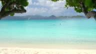 video of snorkelers at Scott Beach, Caneel Bay, St.John, USVI video