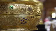 Video of Thai gold object close up video