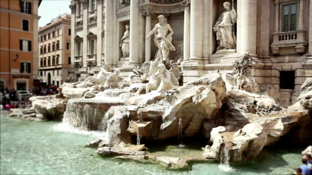 Video of the Trevi Fountain in Rome video