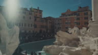 4K Video of the Trevi Fountain in Rome video