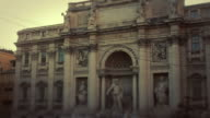 Video of the Trevi Square and Fountain in Rome video