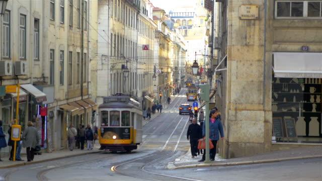 Video of tram in Lisbon in 4K video