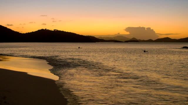 video of Trunk Bay Beach, St.John, USVI during sunset video