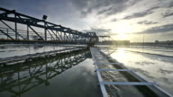 video of Water Treatment plant with sunrise video