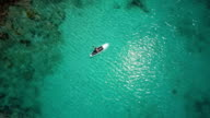 video of woman paddling on a paddleboard in Caribbean video