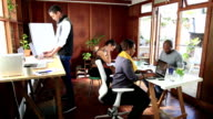 Video Portrait Cape Malay Woman in shared office space video