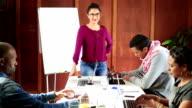 Video Portrait Dynamic Hispanic Woman Leadership video