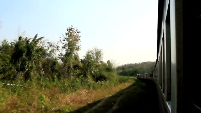 Video rail transport and landscape with 1920x1080 format. video