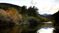 HD Video South Platte River and Rocky Mountains Colorado video