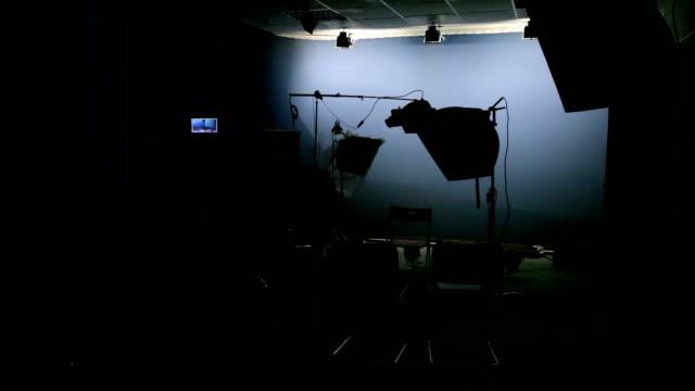 video studio, lights on video