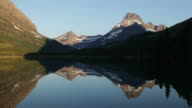 HD video Swiftcurrent Lake and mountain reflections Glacier National Park video