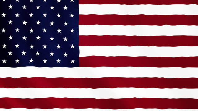 4-K Video : United States of America waving flag video
