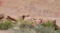HD video visitor at Buckhorn petroglyphs Utah video