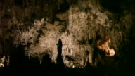 HD video Visitors admire Carlsbad Caverns New Mexico video