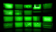 Video Wall Background. Night Vision Version (Loopable) video