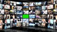 3D Video Wall Green Screen Business People Wireless Communication video
