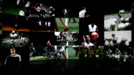 Video wall of multiple sports video