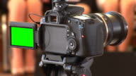 DSLR  video with green screen video