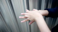 HD Video - Woman scratch hand and finger. video