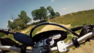 Videoclip Sequence of Motocross Motorcycle Offroad video