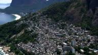 Vidigal Favela  - Aerial View - Rio de Janeiro, Rio de Janeiro, Brazil video