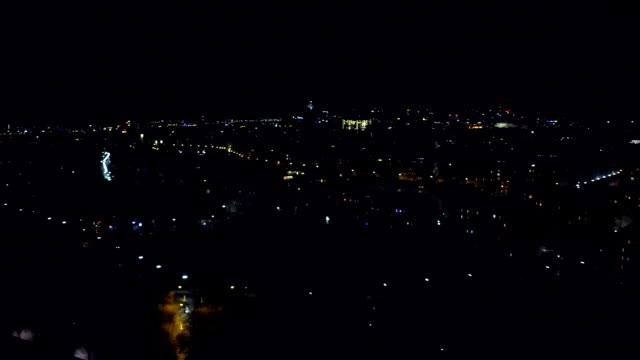 Vienna cityscape at night, Austria. View from above FullHD pan video video