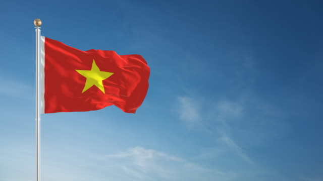 4K Vietnam Flag - Loopable video