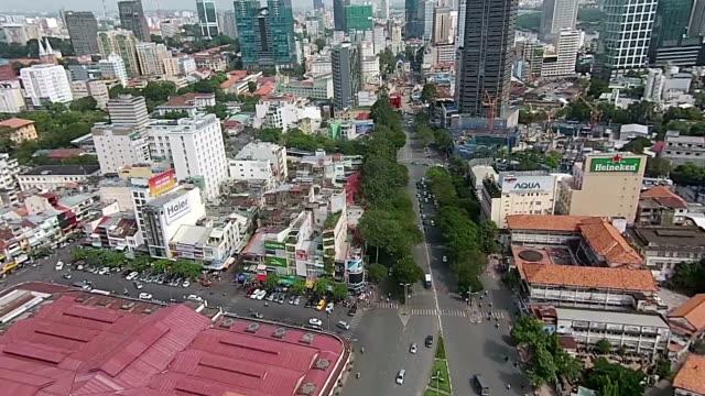 Vietnam, HCMC - Aerial - 01 video