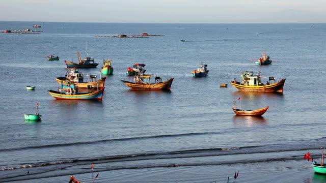 Vietnamese fishing boats video