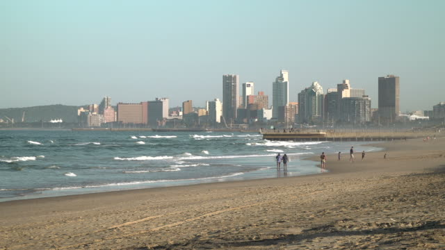 view across durban beachfront, south africa video