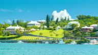 View Across Hamilton Harbour from the City in Bermuda video